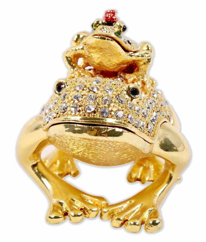 Imperial Gifts Golden Frog Shape Dual Jewellery Box