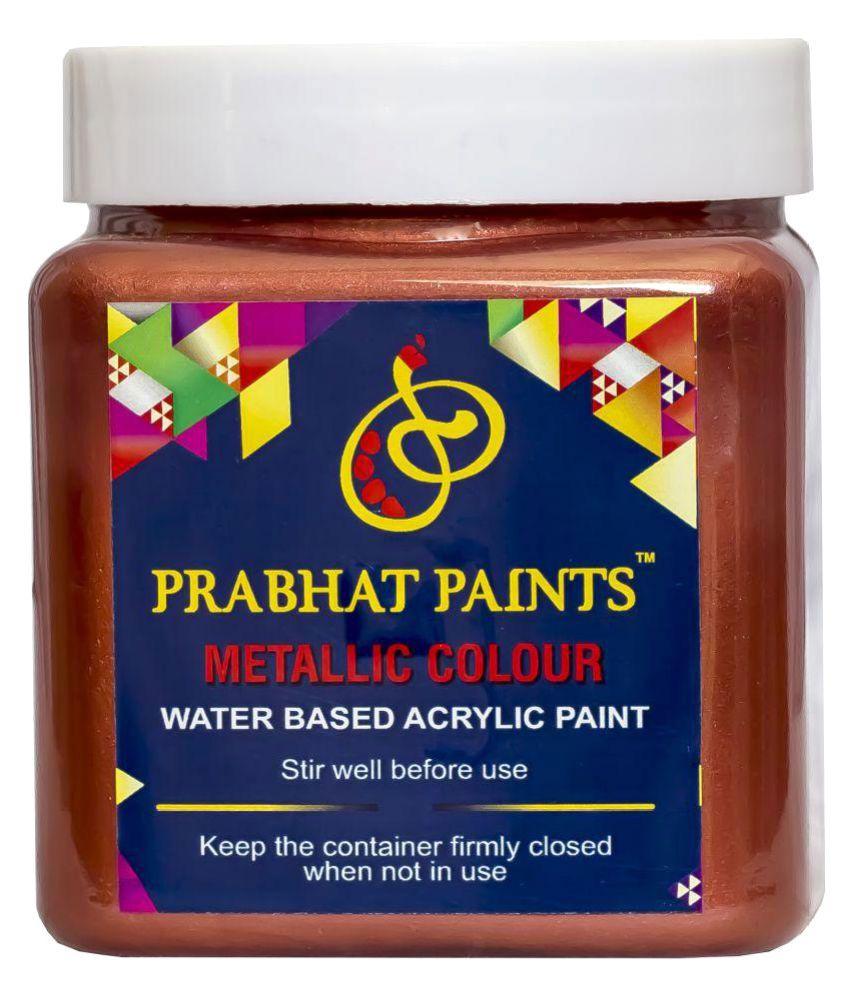 Prabhat Paints Acrylic Metallic Colour / Pearl Colour (500 gm, Sparkle Copper) (Water based paint)