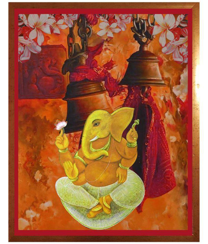 Ganesh Wall Art antaram designs ganesh wall art canvas painting with frame single