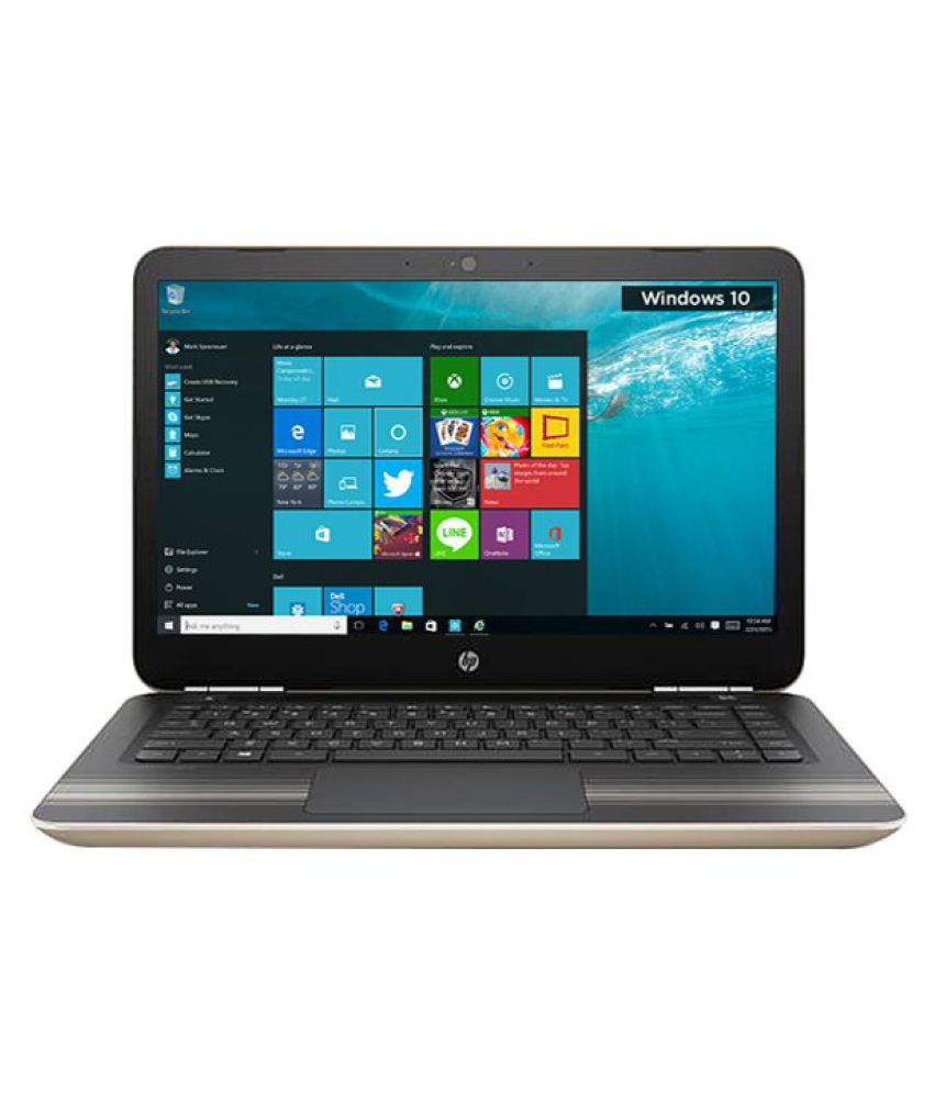 HP Pavilion 14-AL101TU Notebook (7th Gen Intel Core i5- 4GB RAM- 1TB HDD- 35.56 cm(14)- Windows 10) (Gold)