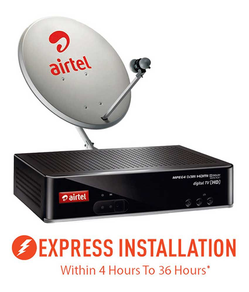 Airtel DTH Connection with One Month South My Sports SD (Express  Installation)