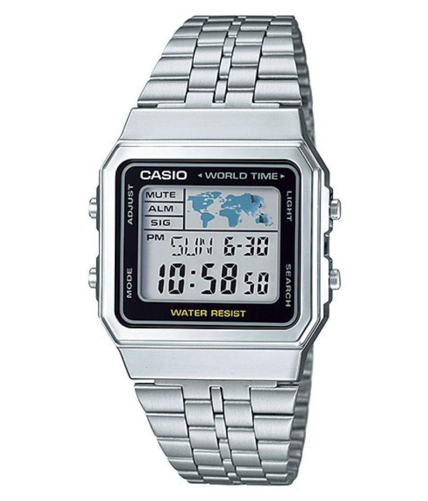 d8fd17fbc58 Casio Silver Digital Watch - Buy Casio Silver Digital Watch Online at Best  Prices in India on Snapdeal