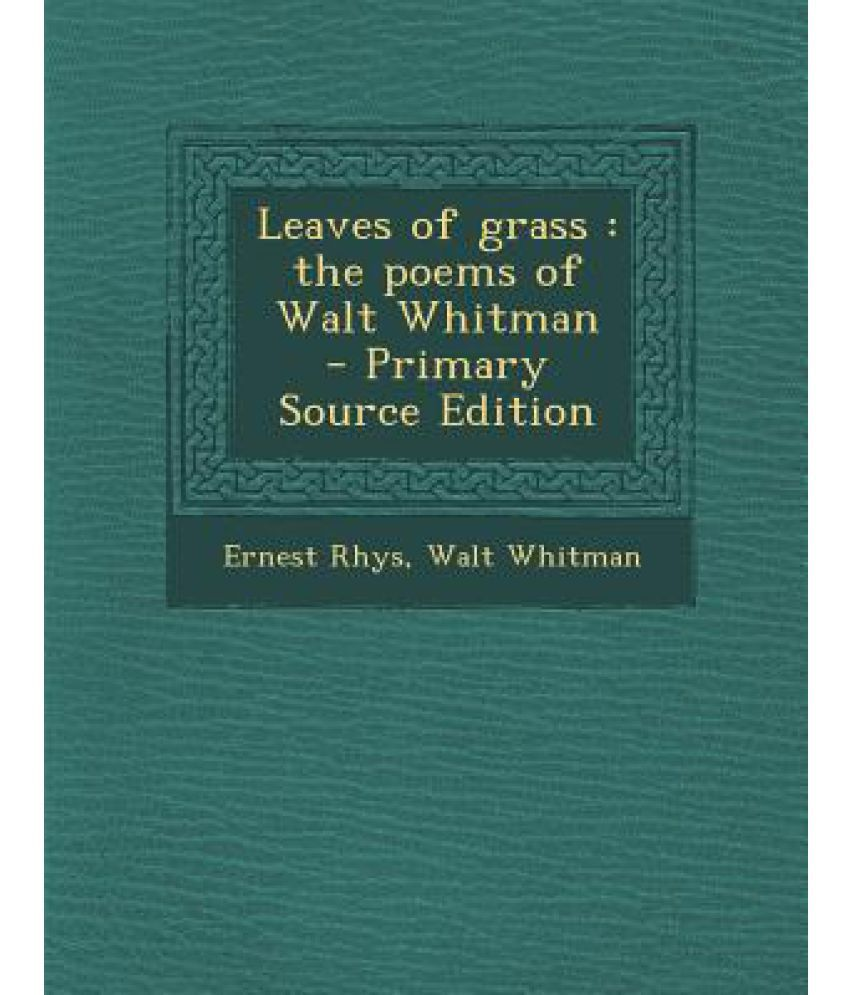 Walt whitman leaves of grass online