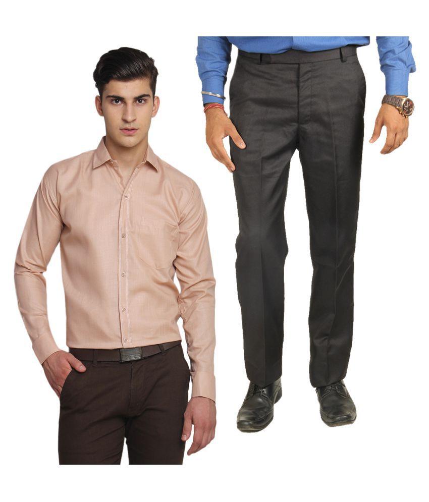 Van Galis Grey Regular Pleated Trouser