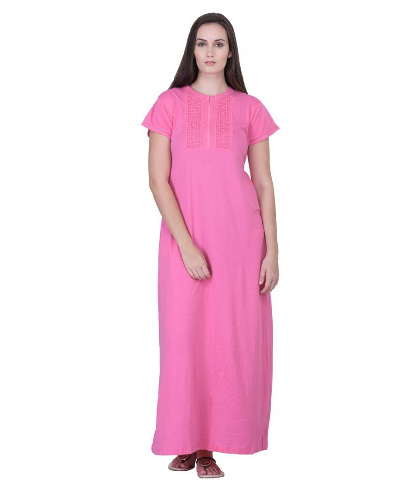 Buy Honeydew Cotton Nighty   Night Gowns Online at Best Prices in India -  Snapdeal c5c2217fb5f3