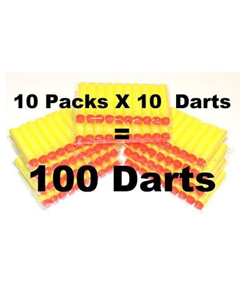 100-dart Refill Set for Nerf N-strike Elite, 100-dart Lot, Refill in Bulk: Yellow Darts 100 Pack