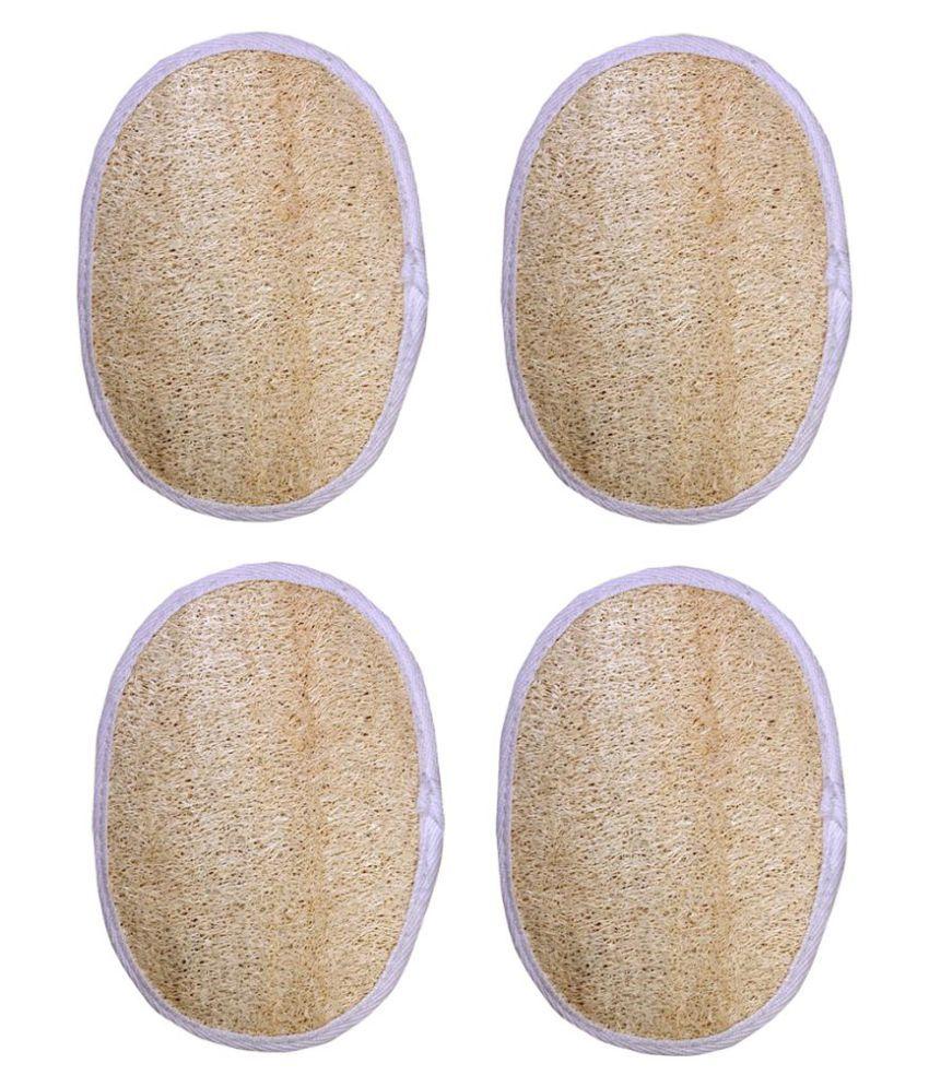 Gold Dust Natural loofah fibers Loofah Pad Yellow 4 fl oz Pack of 4