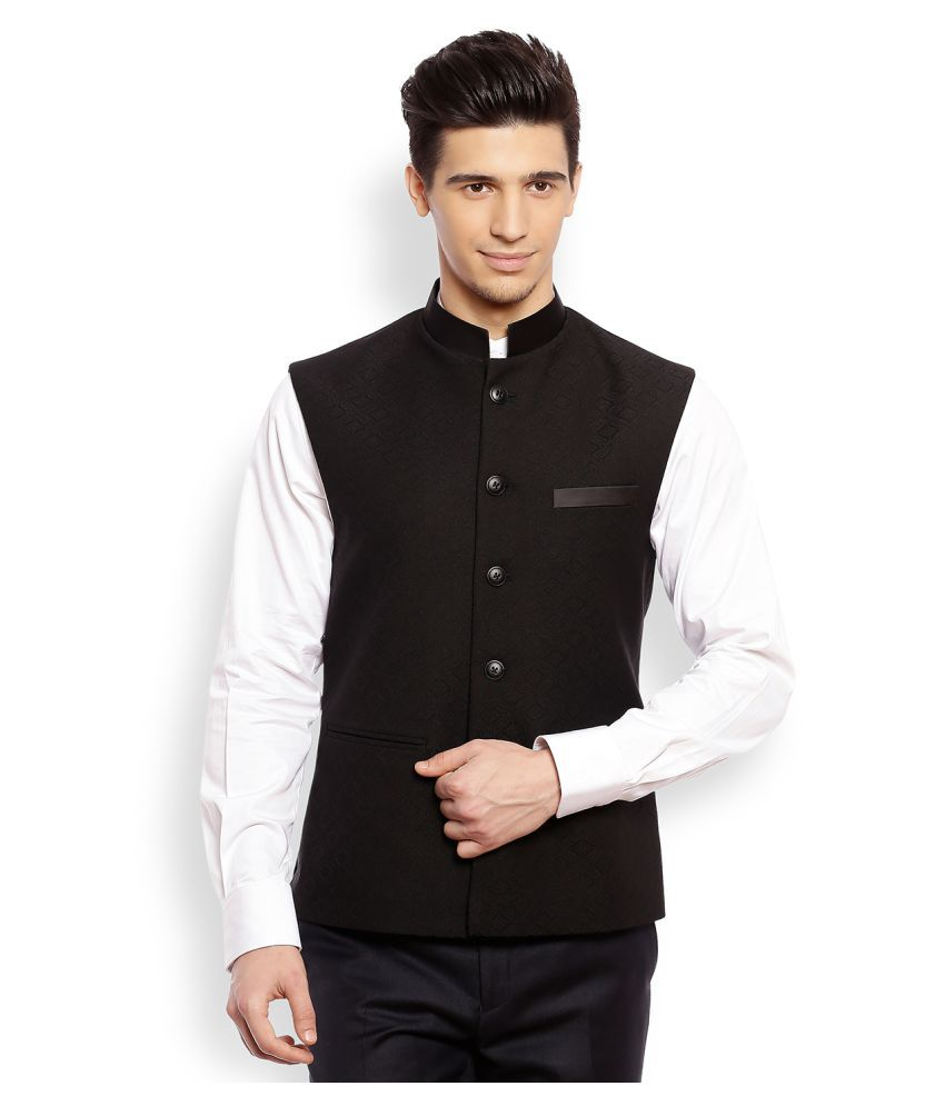 Raymond Black Nehru Jacket - Buy Raymond Black Nehru ...