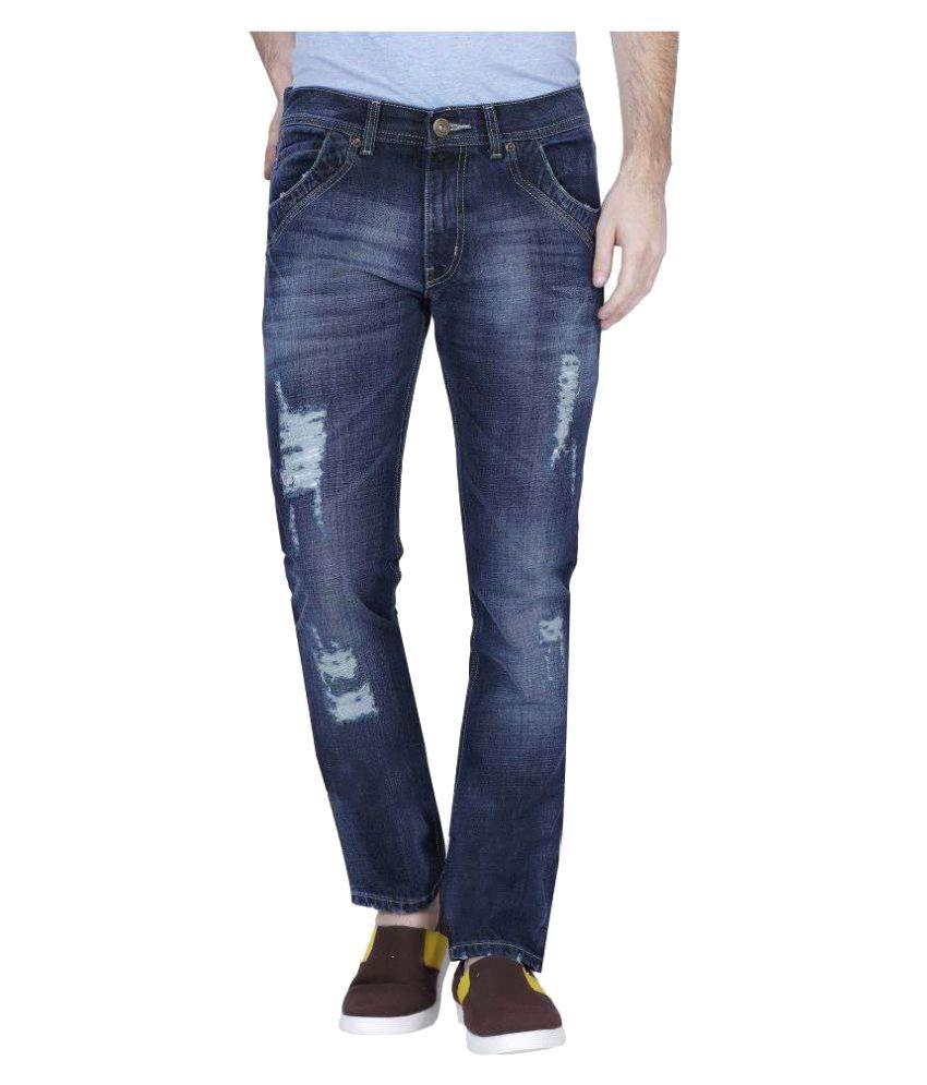 Smug Jeans Blue Slim Faded