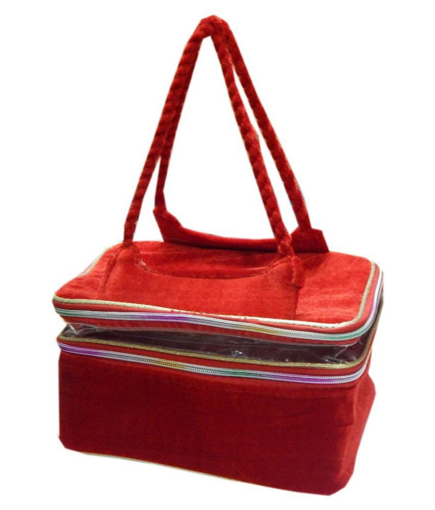 Navaksha Red Color Vanity Box
