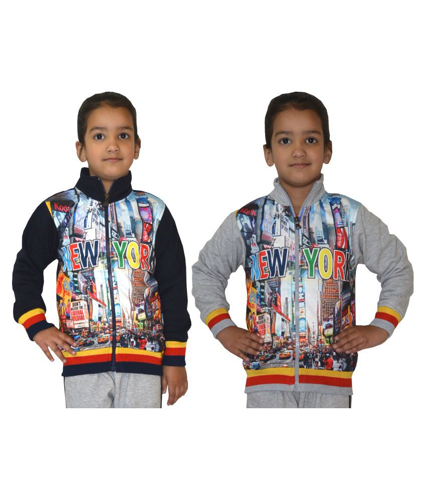 Shaun Multicolour Cotton Blend Sweatshirt - Set of 2