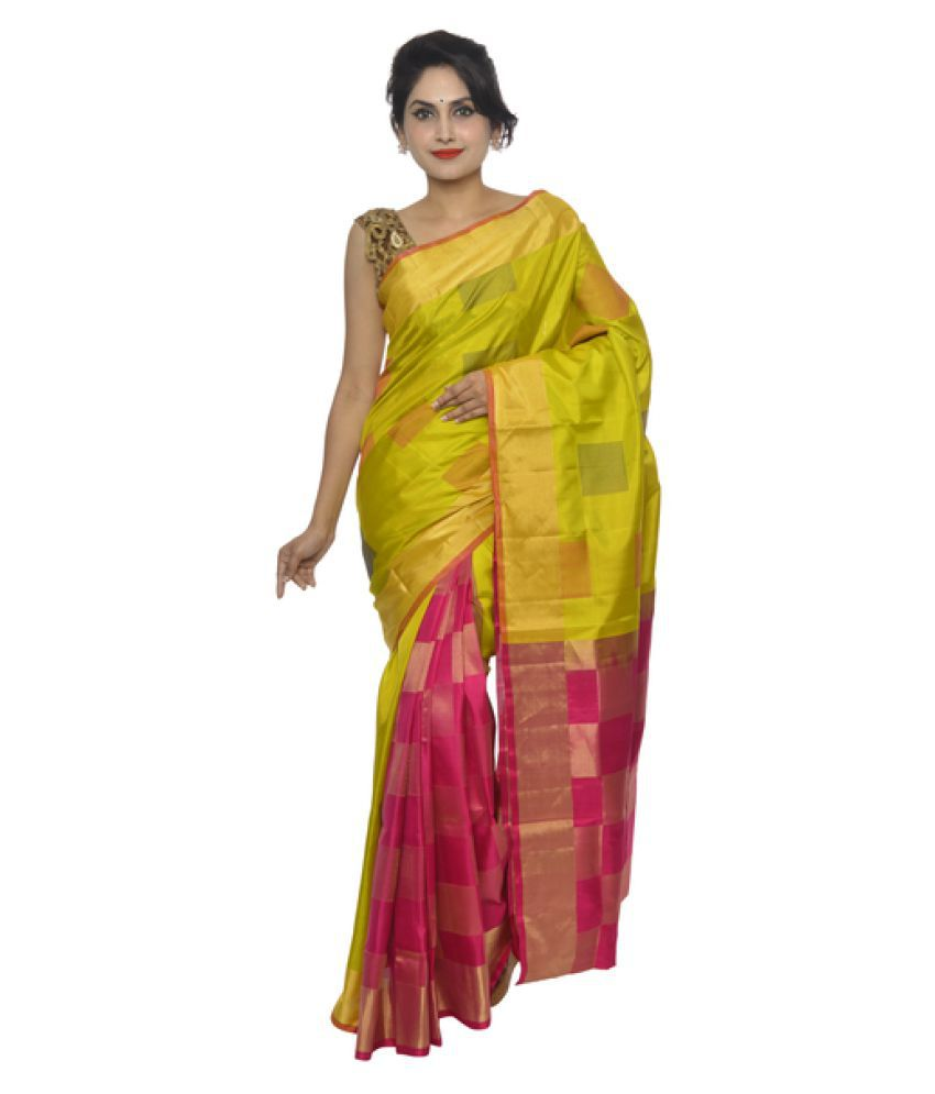 713b06d3da2d6d Vallalar Silks Yellow Kanchipuram Saree - Buy Vallalar Silks Yellow Kanchipuram  Saree Online at Low Price - Snapdeal.com