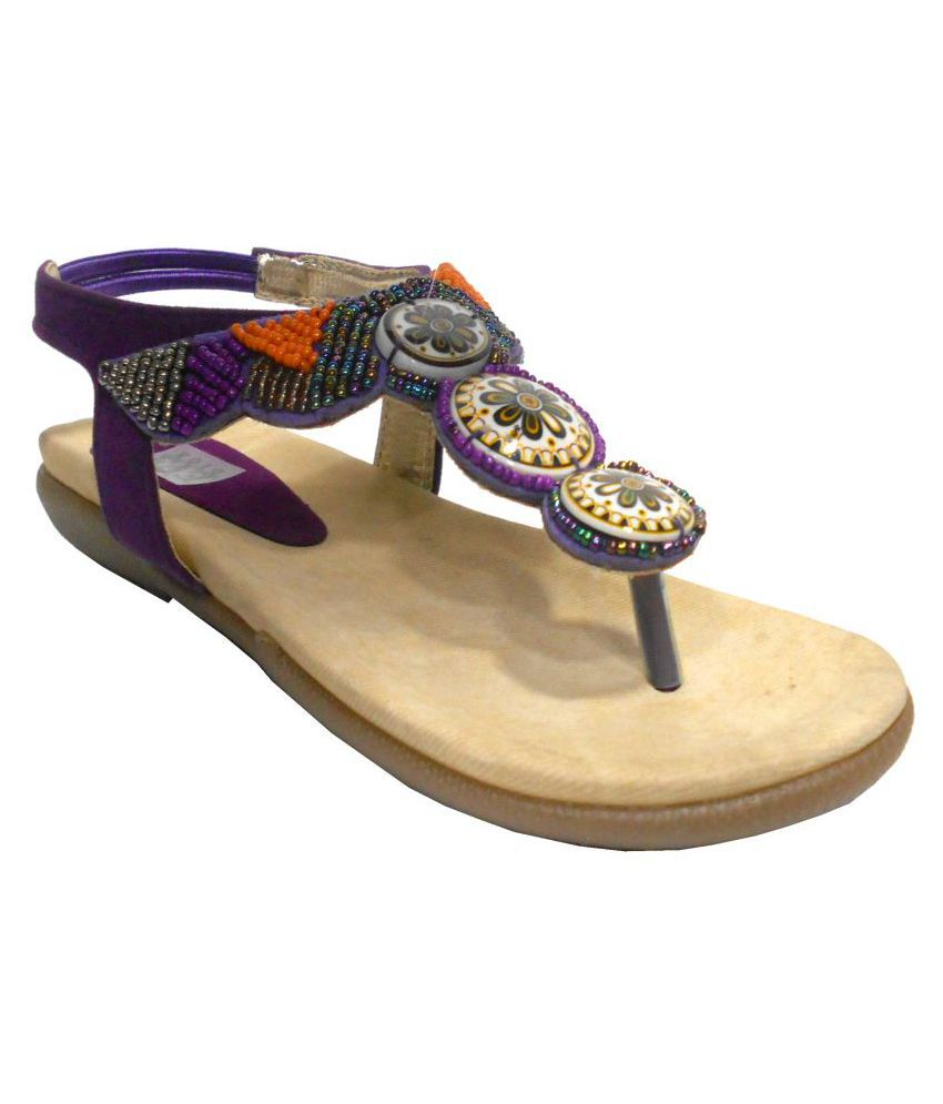 Eve Dior Purple Flats