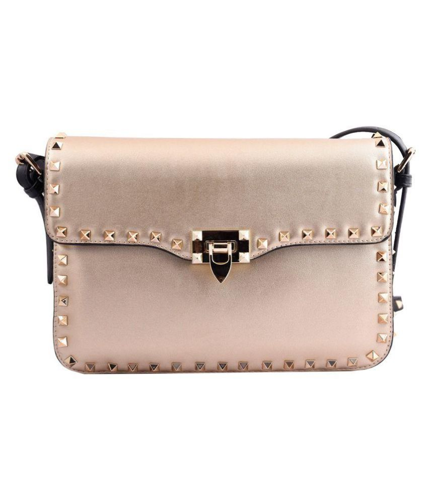Totes Gallore Gold Faux Leather Sling Bag