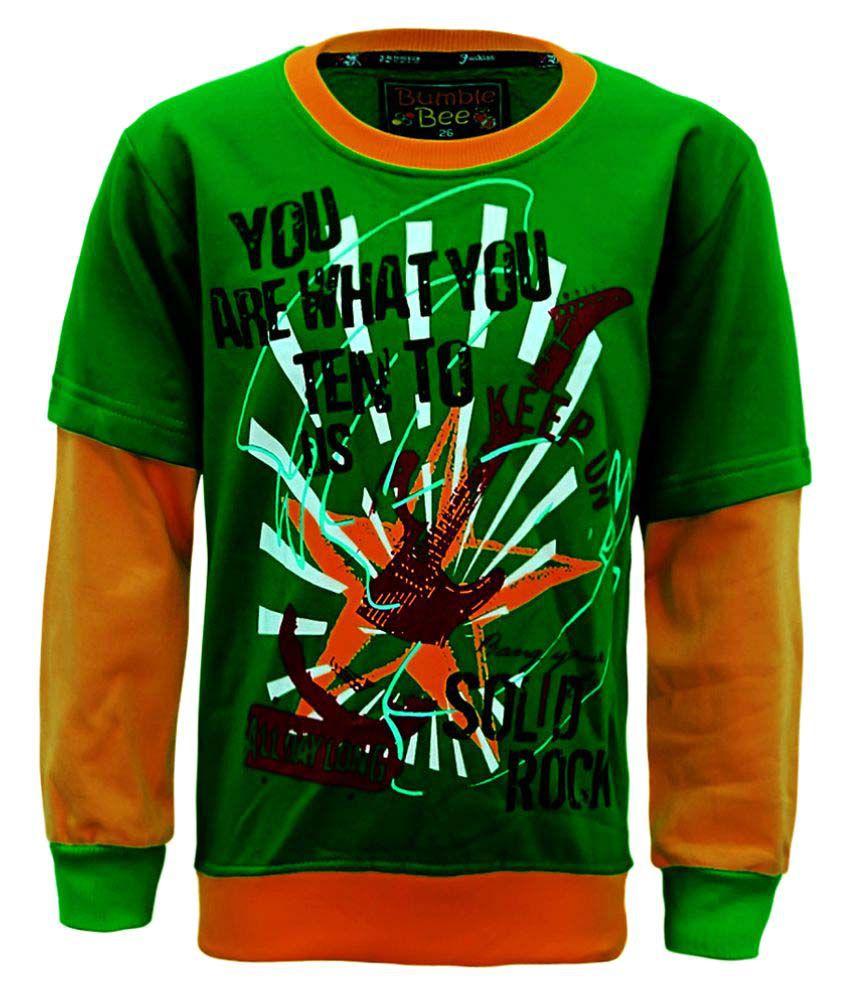 Kothari Green Cotton Sweatshirt