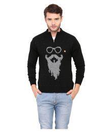 Duke Black Stand Collar Sweater