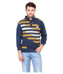 Duke Blue Stand Collar Sweater - 627715855522