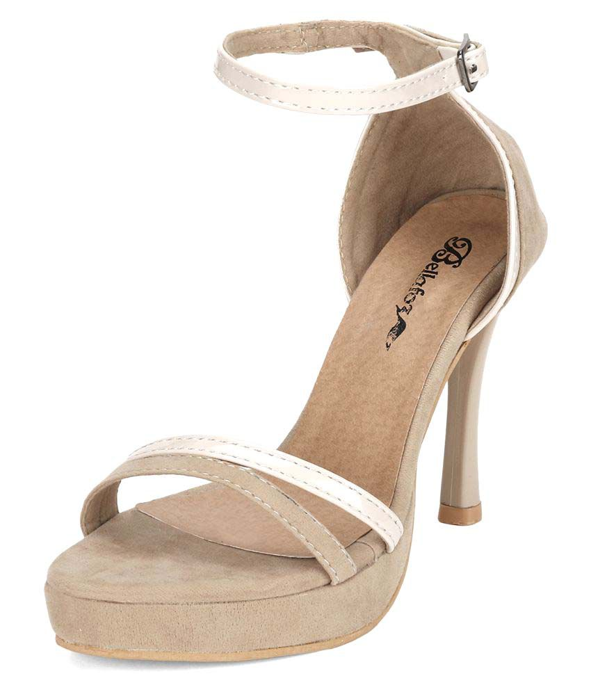 Bellafoz Beige Stiletto Heels