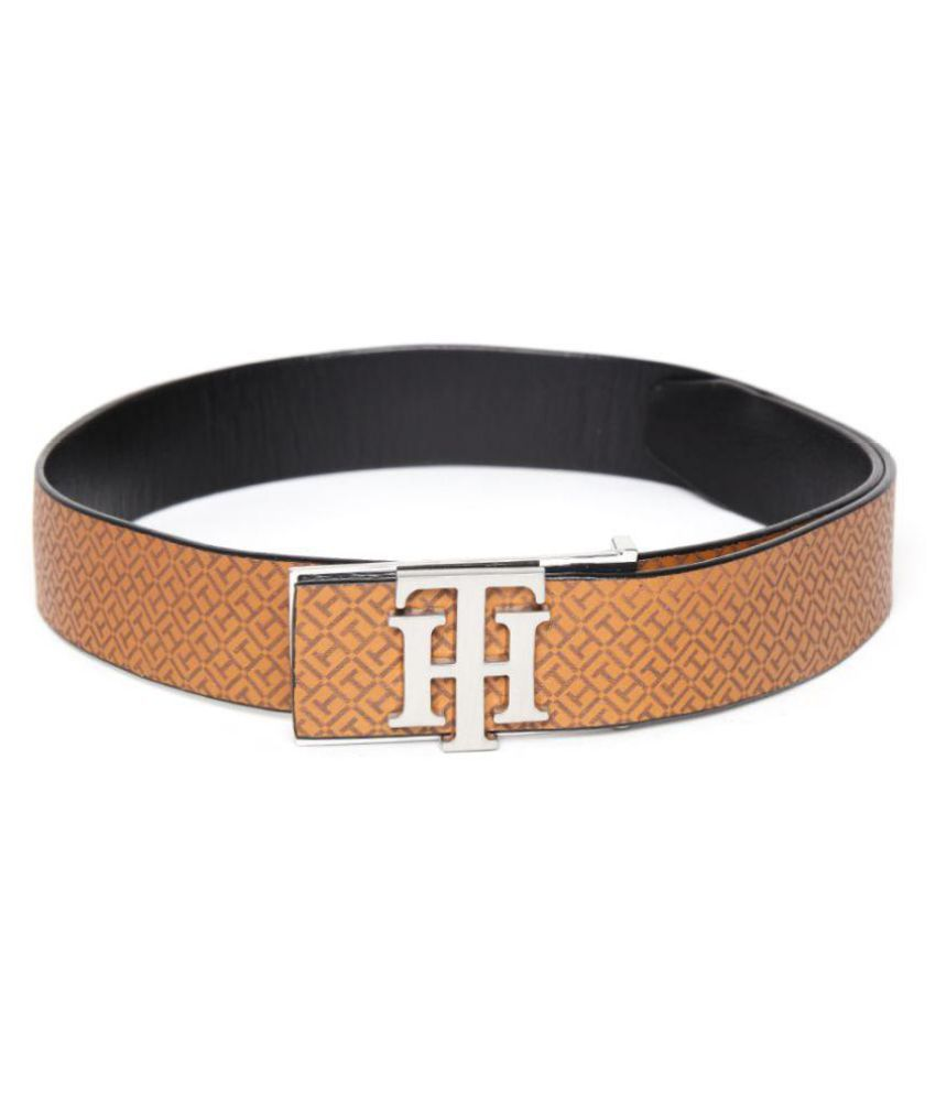Tommy Hilfiger Brown Faux Leather Casual Belts