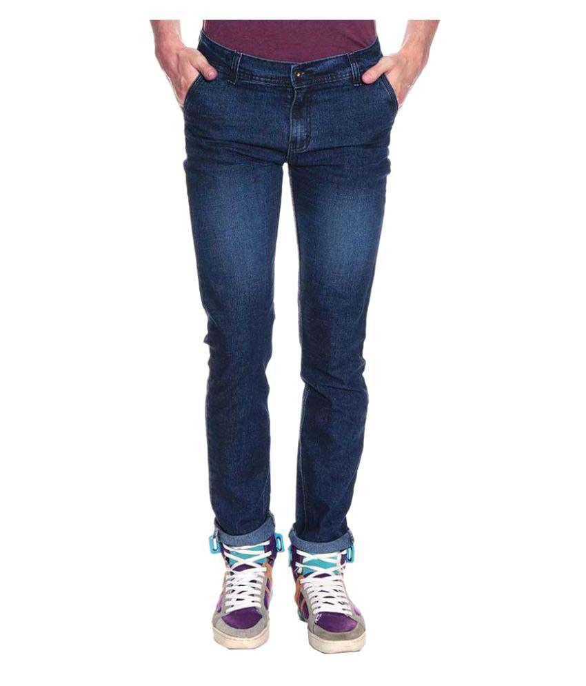 Westkon Black Slim Solid Jeans
