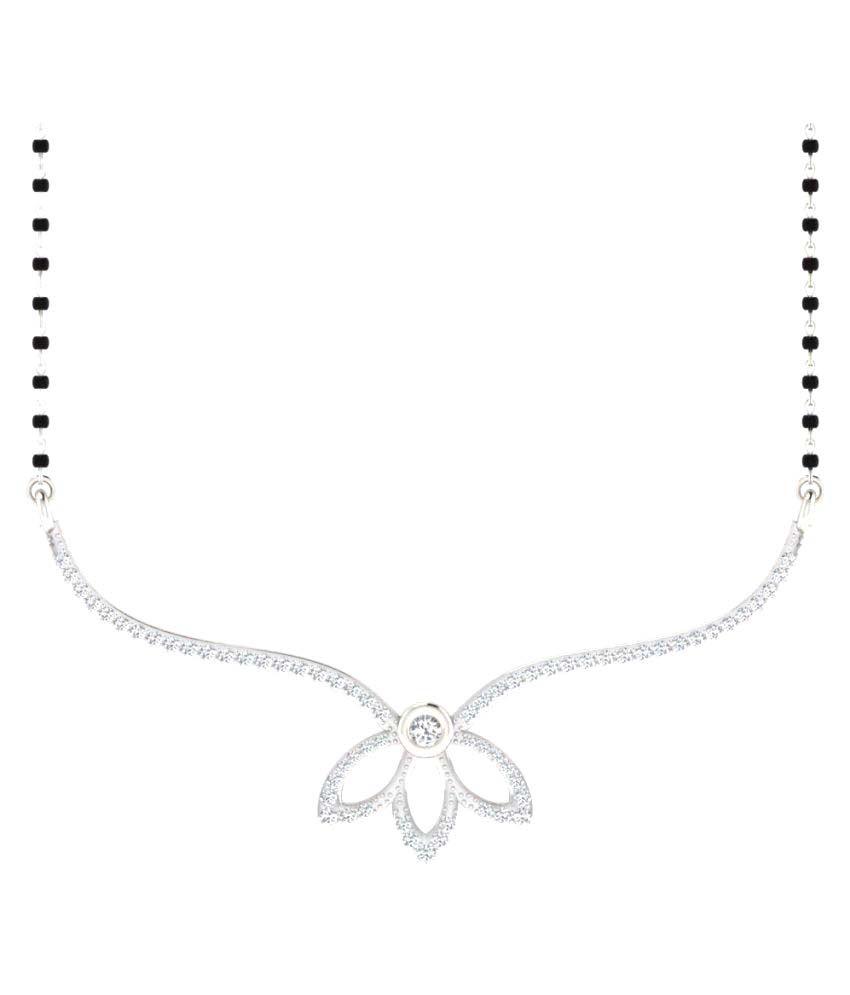 Sparkles 9K White Gold Diamond Mangalsutra