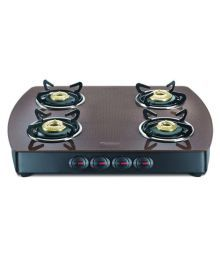 Prestige GTS 04 - D 4 Burner Glass Manual Gas Stove