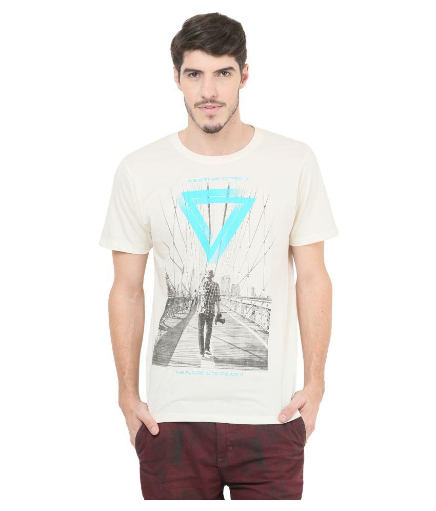 Mode Vetements Off-White Round T-Shirt