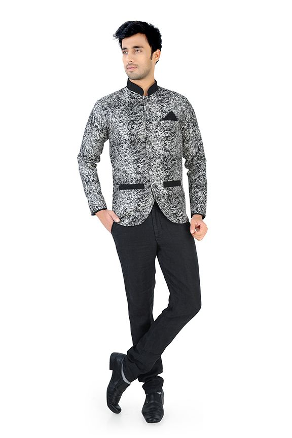 Nu Abc Garments Black Design Blazer For Mens