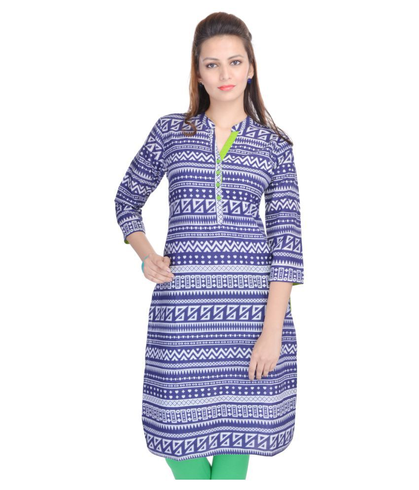 Mahaveer Fashion Multicoloured Cotton Straight Kurti