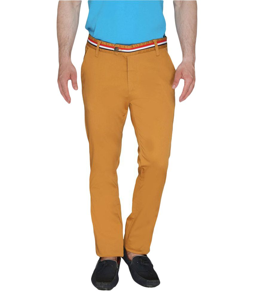 Again? Vintage Yellow Slim Flat Trouser