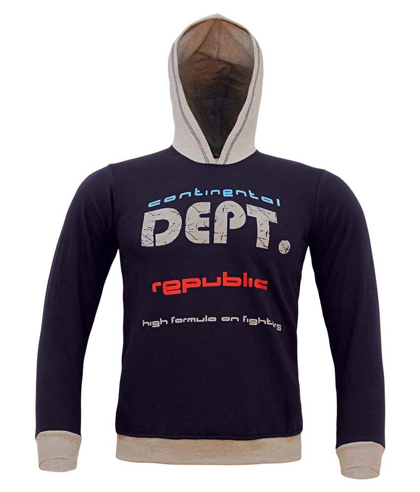 Kothari Blue Cotton Sweatshirt
