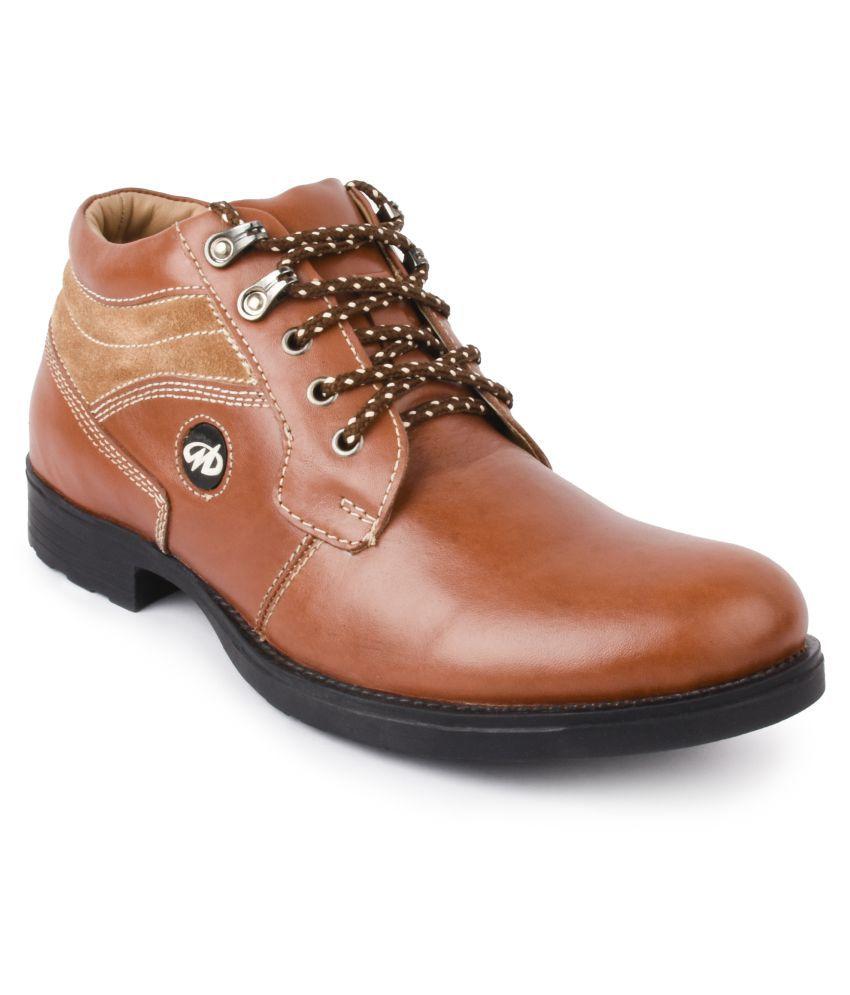 Massimo Italiano Tan Formal Boot
