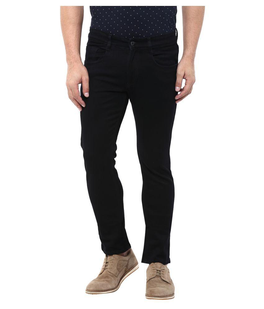 Monteil & Munero Black Slim Solid Jeans