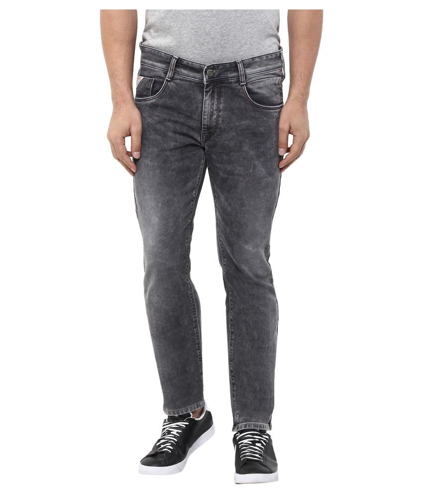 Monteil & Munero Grey Slim Washed Jeans