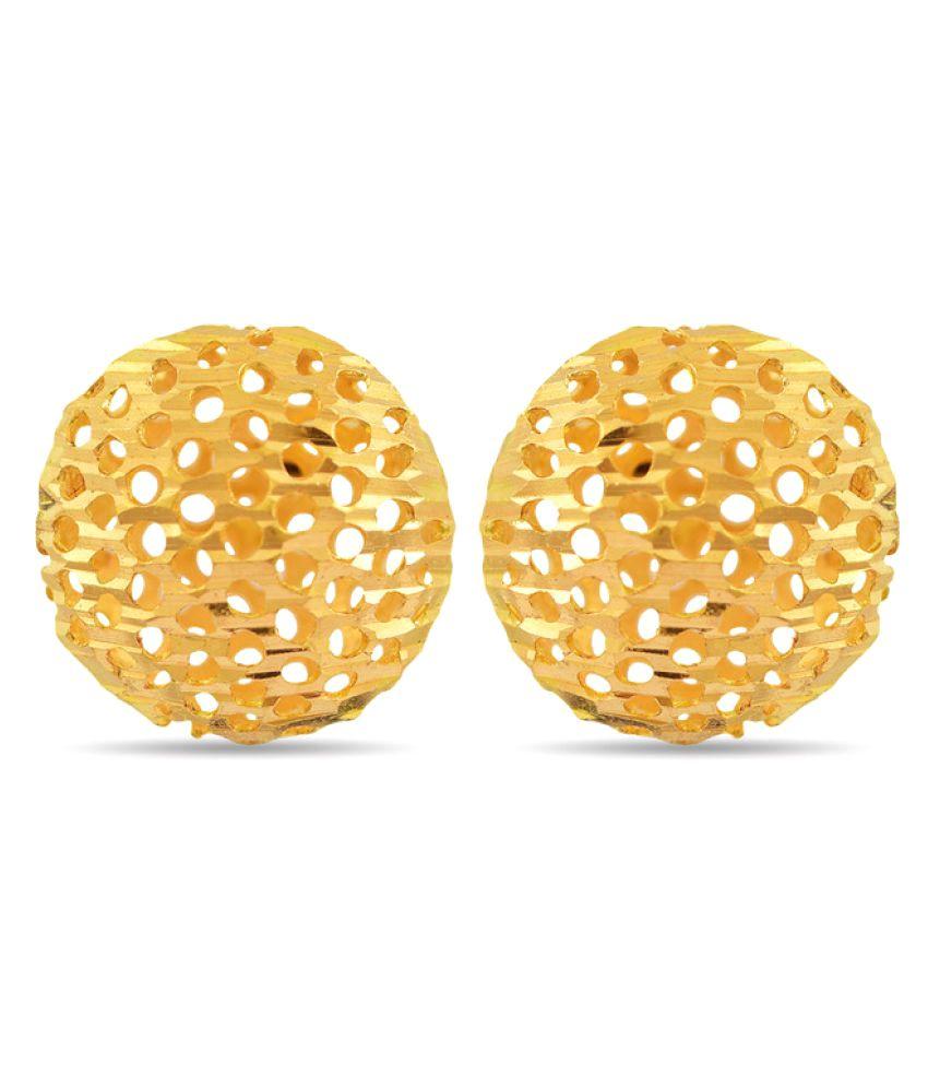 P.N.Gadgil Jewellers 22k Yellow Gold Studs