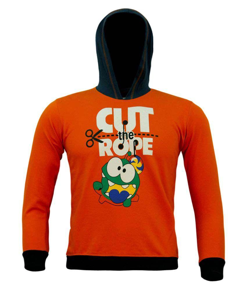Kothari Boys Orange Hooded Sweatshirt Pack of 1