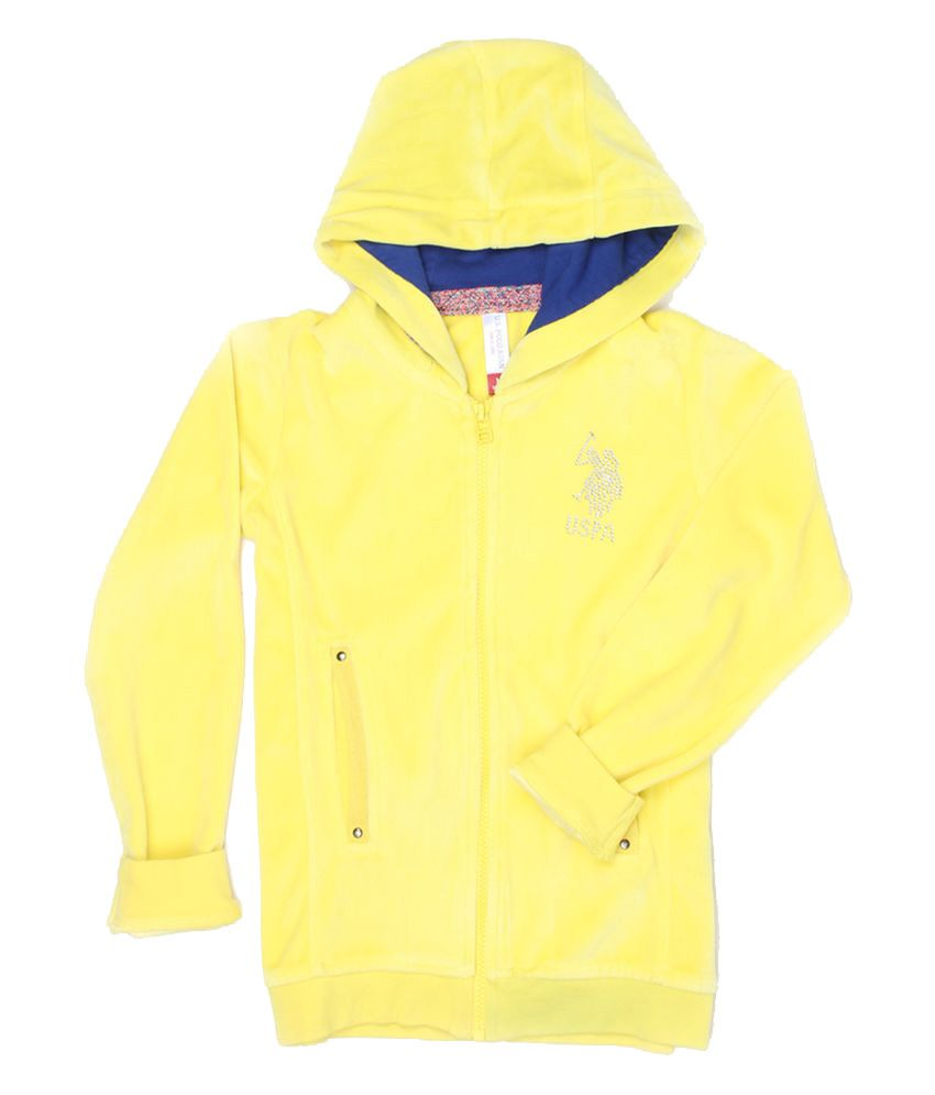 Uspa Yellow Girl's Sweat Shirt