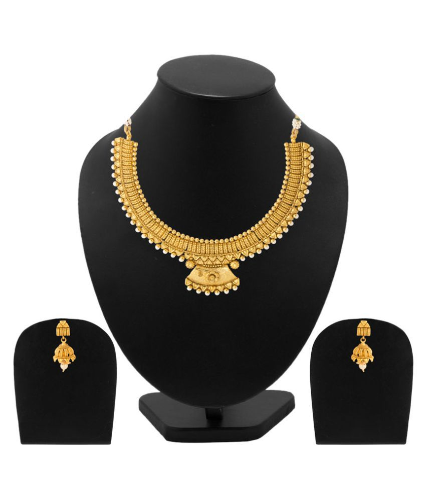Voylla Necklace Set In Gold Plating for Women