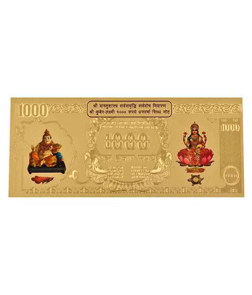 SwissRock Kuber Lakshmi Gold Foil Currency Note SHOPGENX-10