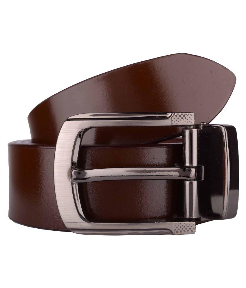 Exotique Brown Leather Formal Belts