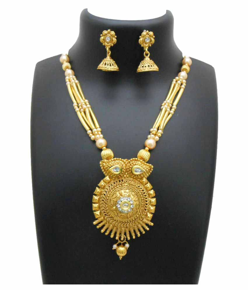 My Design Golden Necklace Set
