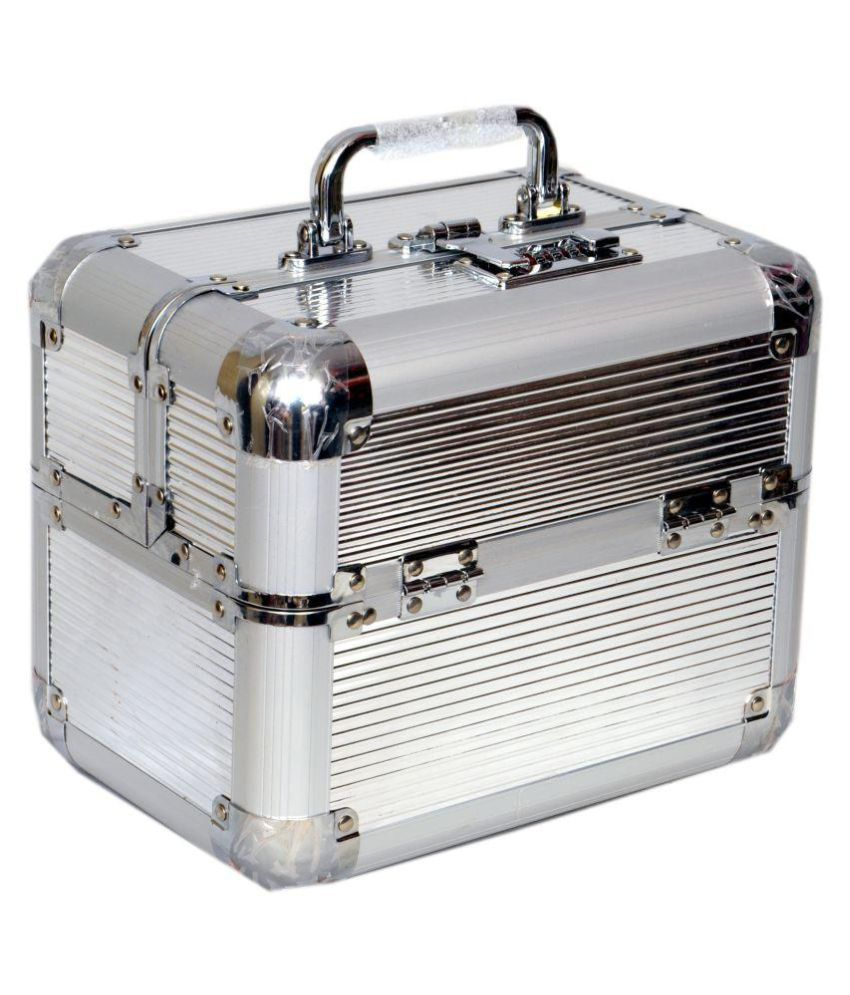 Bonanza Heavy Silver Makeup Jewelry vanity box