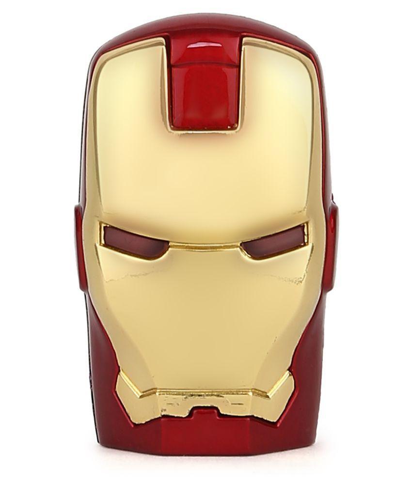 ENRG 16 GB Iron Man Face Pen Drives Red