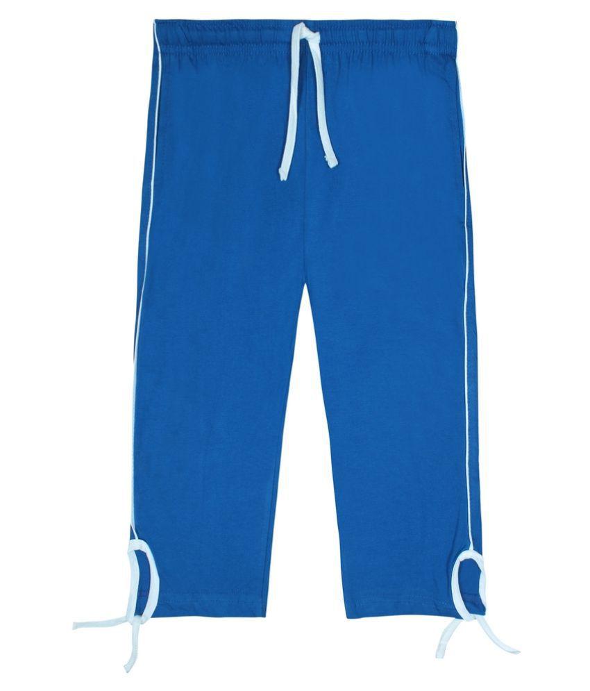 Jazzup Blue Cotton Capri