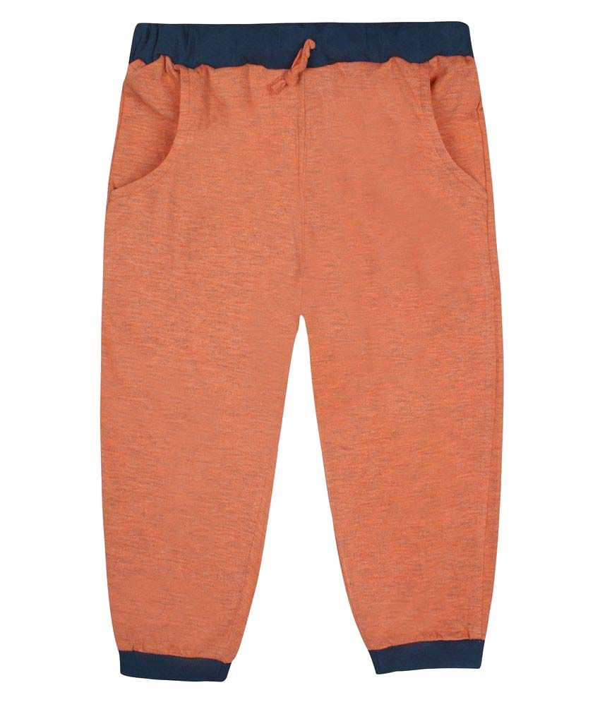 Jazzup Orange Cotton Capris
