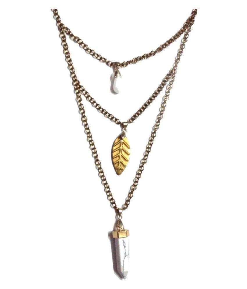 Tiaraa White Alloy Necklace