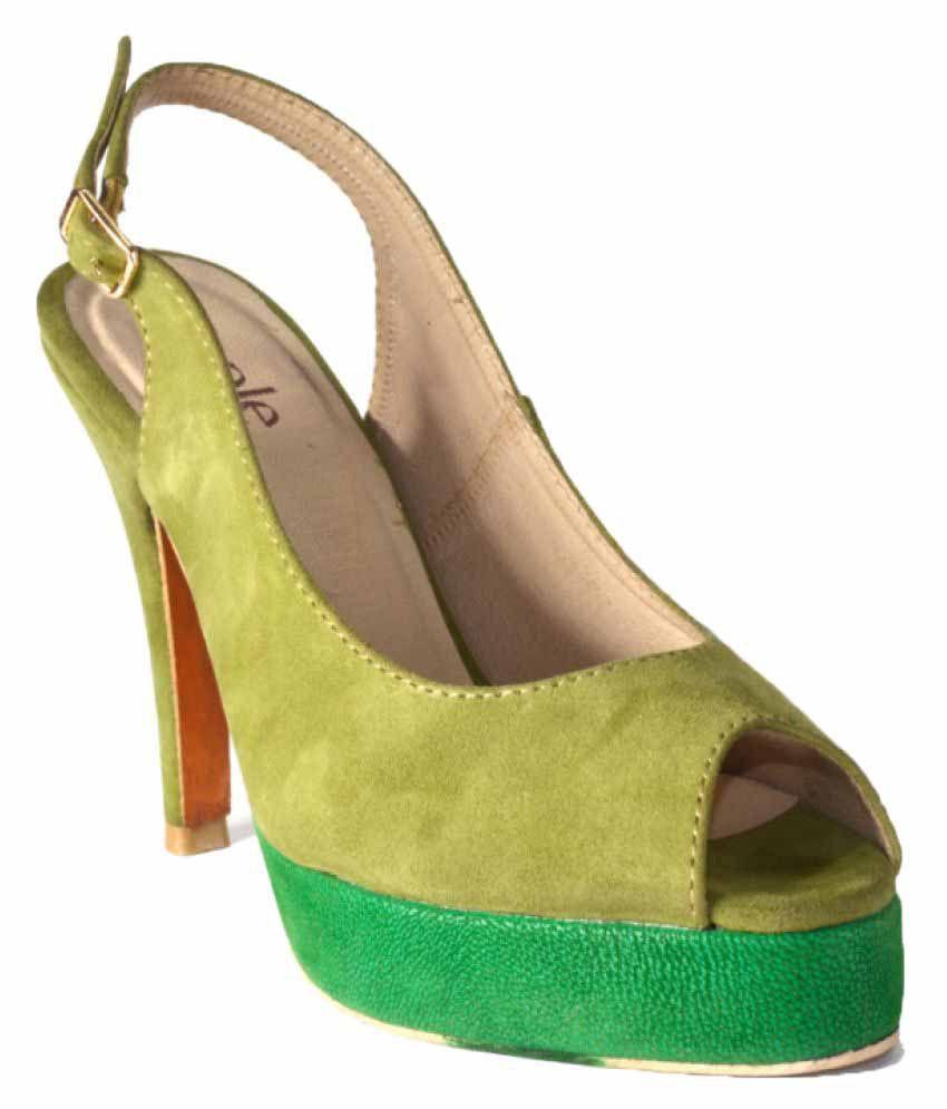 Buy Zaple Green Heels Online at Snapdeal