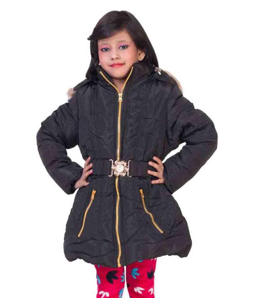 MDS Jeans Black Polyster Lycra Jacket For Girls