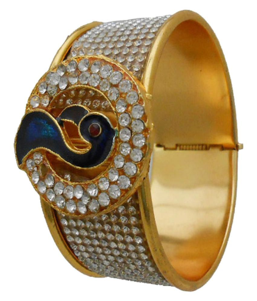 My Design Elegent Gold Plated Peacock Shaped Bracelet For Women And Girls