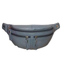 Style 98 Stylish Leather Grey Waist Pouch